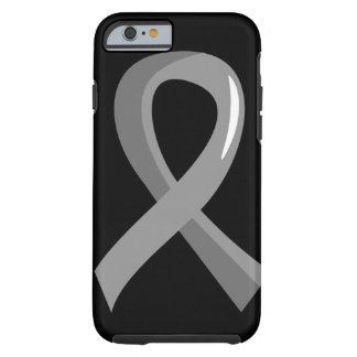 Cinta gris 3 del cáncer de cerebro funda para iPhone 6 tough