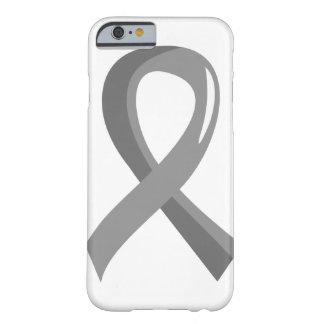 Cinta gris 3 del tumor cerebral funda de iPhone 6 barely there