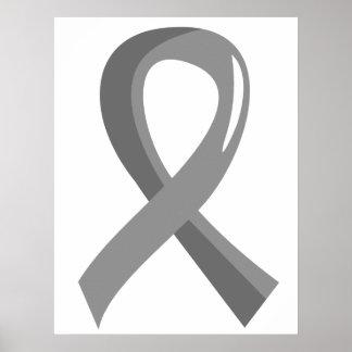 Cinta gris 3 del tumor cerebral impresiones