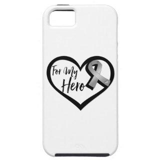 Cinta gris de la conciencia para mi héroe iPhone 5 funda