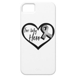 Cinta gris de la conciencia para mi héroe iPhone 5 fundas