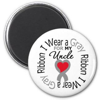 Cinta gris del desgaste de la diabetes I para mi t Iman De Frigorífico