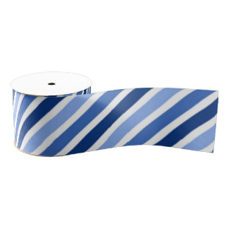 Cinta grosgrain rayada: Rayas azules y blancas