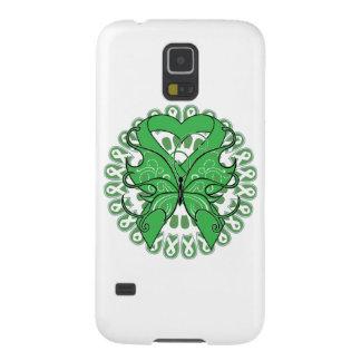 Cinta hepática del corazón de la mariposa del cánc carcasa de galaxy s5
