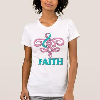 Cinta hereditaria de la flor de lis de la fe del c camiseta