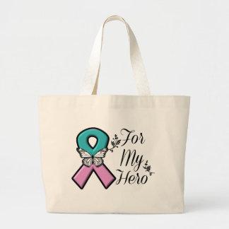 Cinta hereditaria del cáncer de pecho para mi bolsa tela grande