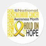 Cinta I2 1,4 del mes de la conciencia del cáncer Pegatinas Redondas