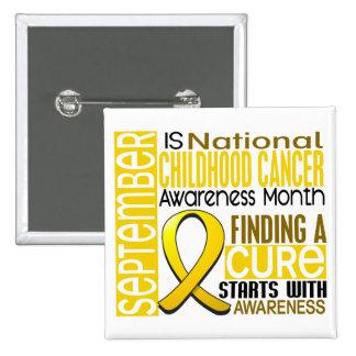 Cinta I2 1,5 del mes de la conciencia del cáncer d Pin Cuadrado
