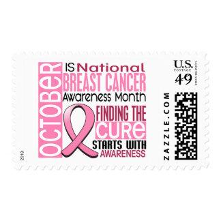 Cinta I2 1,5 del mes de la conciencia del cáncer Sello