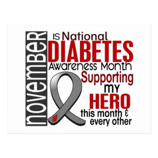 Cinta I2.1 del mes de la conciencia de la diabetes Tarjeta Postal