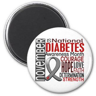 Cinta I2.3 del mes de la conciencia de la diabetes Imán De Frigorifico