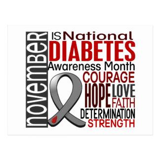 Cinta I2.3 del mes de la conciencia de la diabetes Postal