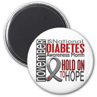 Cinta I2.4 del mes de la conciencia de la diabetes Imán De Frigorífico