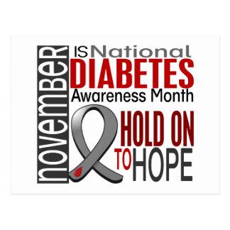Cinta I2.4 del mes de la conciencia de la diabetes Tarjetas Postales
