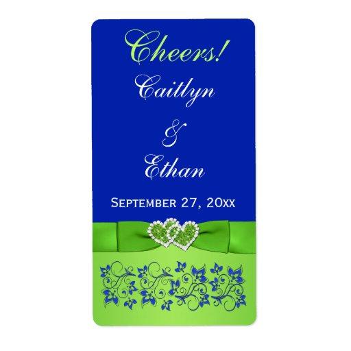 CINTA IMPRESA azul, etiqueta verde del vino del bo Etiquetas De Envío