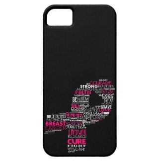 Cinta inspirada de la conciencia del cáncer de funda para iPhone SE/5/5s