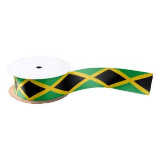 Cinta jamaicana de la bandera lazo de raso