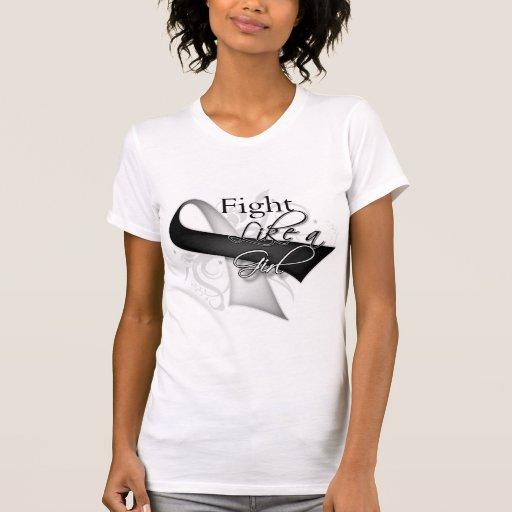 Cinta - lucha como un chica - cáncer carcinoide t-shirts