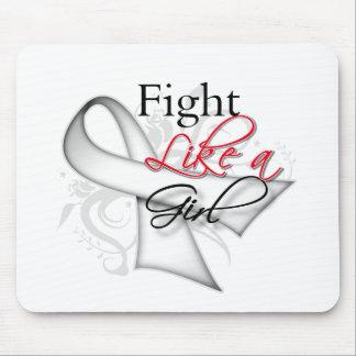 Cinta - lucha como un chica - cáncer de hueso tapetes de raton
