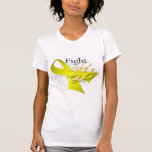 Cinta - lucha como un chica - cáncer de vejiga camiseta