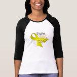 Cinta - lucha como un chica - cáncer de vejiga camisetas