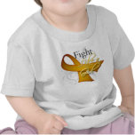 Cinta - lucha como un chica - cáncer del apéndice camisetas