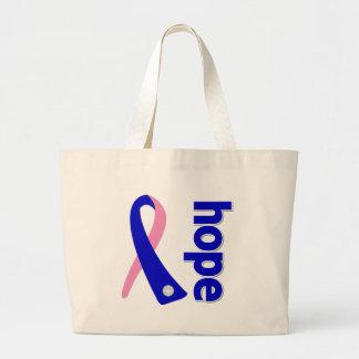 Cinta masculina de la esperanza del cáncer de pech bolsa de mano