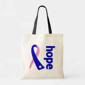 Cinta masculina de la esperanza del cáncer de pech bolsas
