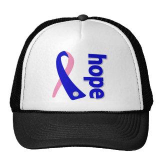 Cinta masculina de la esperanza del cáncer de pech gorro de camionero