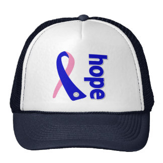 Cinta masculina de la esperanza del cáncer de pech gorros bordados