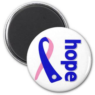 Cinta masculina de la esperanza del cáncer de pech imán