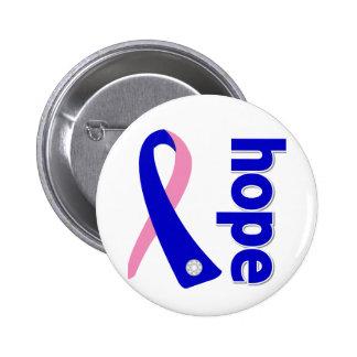 Cinta masculina de la esperanza del cáncer de pech pin