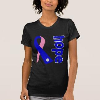 Cinta masculina de la esperanza del cáncer de camisetas