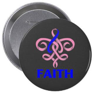 Cinta masculina de la flor de lis de la fe del cán pin