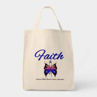 Cinta masculina de la mariposa de la fe del cáncer bolsas