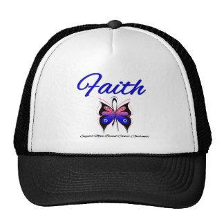Cinta masculina de la mariposa de la fe del cáncer gorras
