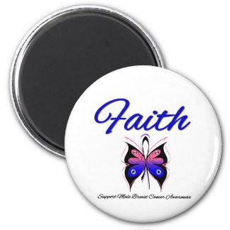 Cinta masculina de la mariposa de la fe del cáncer imán de nevera