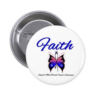 Cinta masculina de la mariposa de la fe del cáncer pin