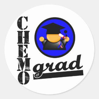Cinta masculina del cáncer de pecho del graduado pegatinas redondas