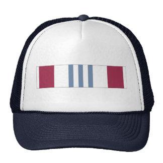 Cinta meritoria del servicio de la defensa gorras de camionero