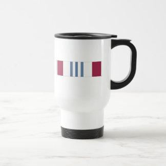 Cinta meritoria del servicio de la defensa tazas de café