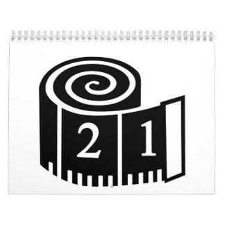 Cinta métrica calendarios de pared