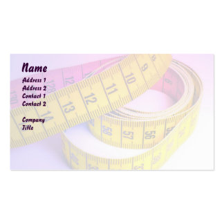 Cinta métrica colorida tarjetas de visita