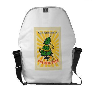 Cinta métrica libre del árbol de navidad de la cal bolsa messenger