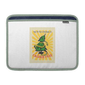 Cinta métrica libre del árbol de navidad de la cal fundas para macbook air
