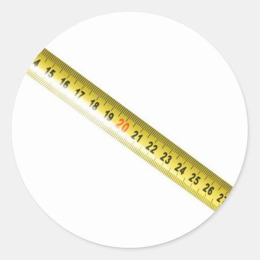 Cinta métrica pegatina redonda