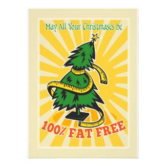 Cinta métrica sin grasa del árbol de navidad comunicados personalizados