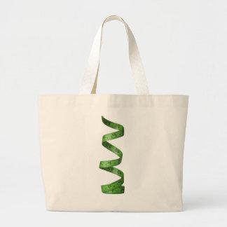 Cinta métrica verde el torcer en espiral bolsa tela grande