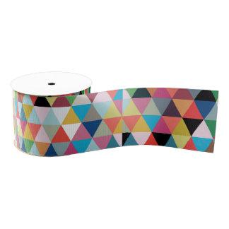 Cinta modelada geométrica colorida lazo de tela gruesa