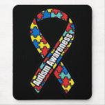 Cinta Mousepad de la conciencia del autismo Tapete De Ratones